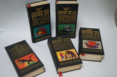 Lot de 5 volumes des Guides noirs. Editions Tchou Princesse. La Bretagne mystérieuse,...
