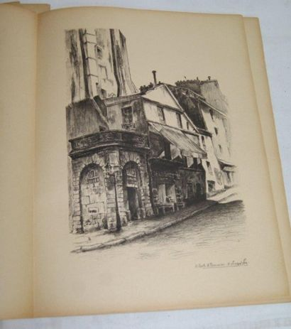 """""""Vielles pierres de Paris"""" 20 lithographies de Gilbert Pommier - Zaborowska. Editions..."""