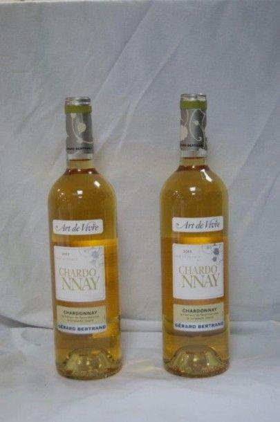 2 bouteilles de Chardonnay, Gerard Bertrand, 2011.