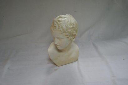 Buste en plâtre, représentant une figure...