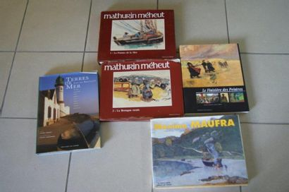 Lot de livres sur la Bretagne et des artistes...