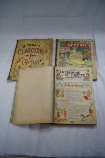 Lot de 3 livres pour enfants : la Semaine...