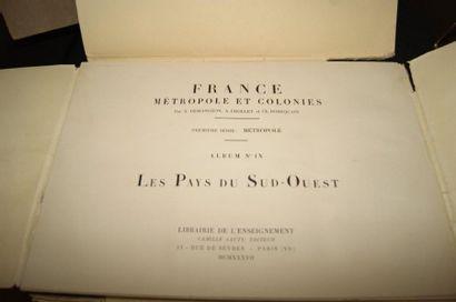 Lot de fascicules : La France Métropole et Colonies, Les Vieux Logid du pays d'Henri...