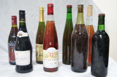 Lot de 8 bouteilles : 1 bouteille de Vin...