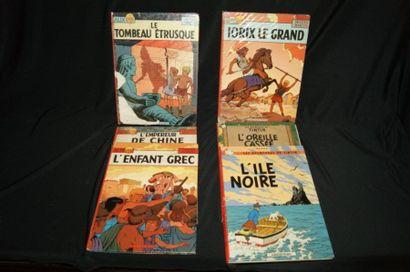 Lot de BD Casterman dont Tintin (L'oreille...