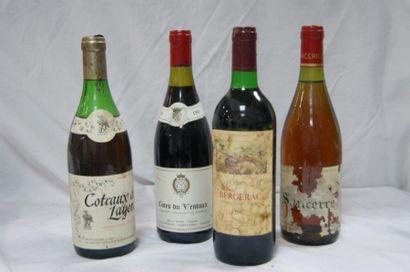 Lot de 4 bouteilles : 1 de Côtes du Ventoux...
