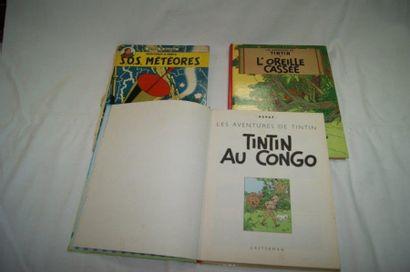 Lot de 3 BD : 2 albums de Tintin : Tintin...