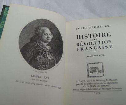 Jules MICHELET Histoire de la Révolution française. Jean de Bonnot, 1974, 7 vol...