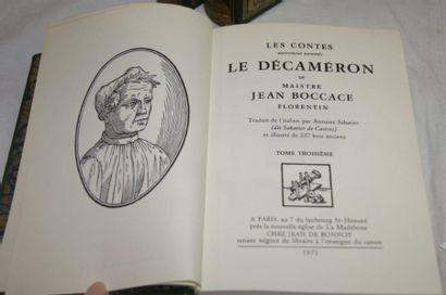 """Boccace, """"Le décaméron"""", Jean de Bonneau 1971 (3 volumes)"""