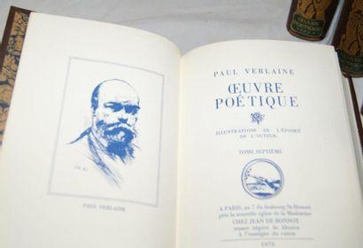 """Verlaine, """"Oeuvres poétiques"""" Jean de Bonneau, 1975 (7 volumes)"""