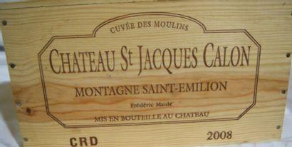 6 bouteilles de Montagne St-Emillion, Château St Jacques Calon 2008 CBO