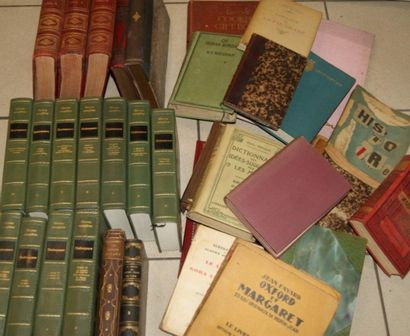 Fort lot de livres reliés 19e et 20e s. en...