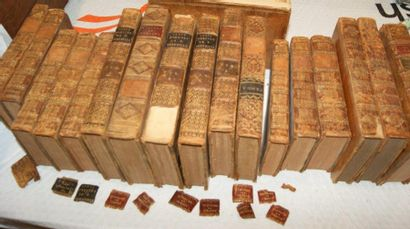 Petit lot de livres début XIXe et XVIIIe...