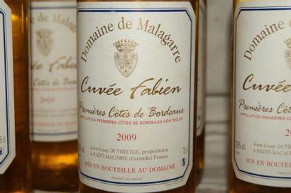 8 bouteilles de Premières Côtes de Bordeaux, Domaine de Malagarre, cuvée Fabien,...