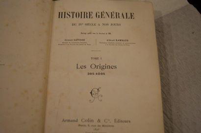 """Lavisse et Rambaud """"Histoire générale"""". Armand Colin, 1896. 12 tomes."""