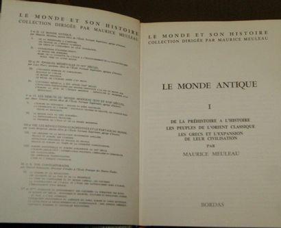 """""""Le Monde et son histoire"""" 11 tomes. Bordas"""