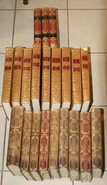 Ensemble de 3 séries de livres reliés : Voltaire...