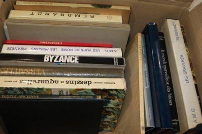 Lot de livres d'Art dont Rembrandt, Piranèse, Orfèvrerie ....
