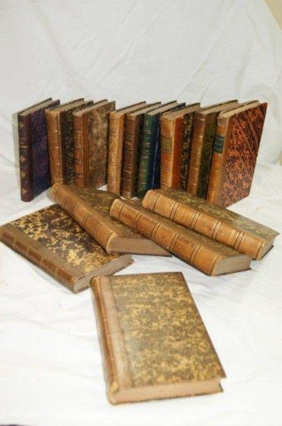 Lot de livres XIXe dont Bourdaloue (tomes...