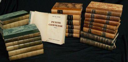 Lot de livres reliés XXe dont Stendhal, Dumas,...