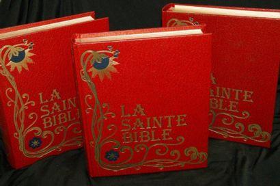 LA SAINTE BIBLE. Edilec. 3 tomes. 1979/