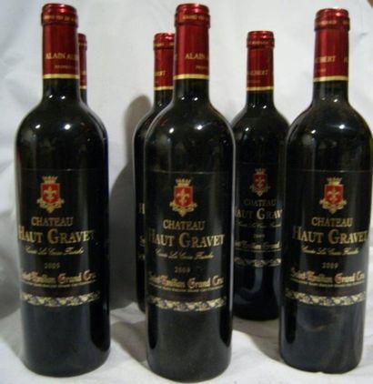 6 bouteilles de St-Emillion Grand Cru, Château Haut Gravet, 2009