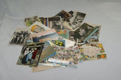 Petit lot de cartes postales semi-modern...