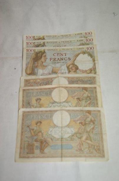Petit lot de billets de banque, comprenant...