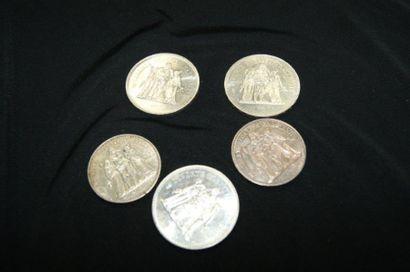 FRANCE Lot de 2 pièces de 10 francs Hercule...