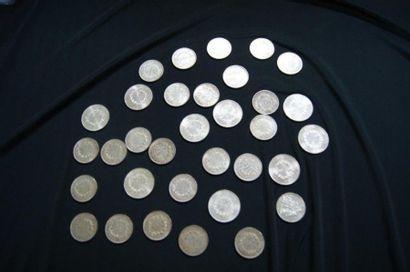 Lot de pièces en agent (10 et 50 francs Hercule)....