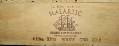 6 bouteilles de Pessac-Leognan, La réserve...