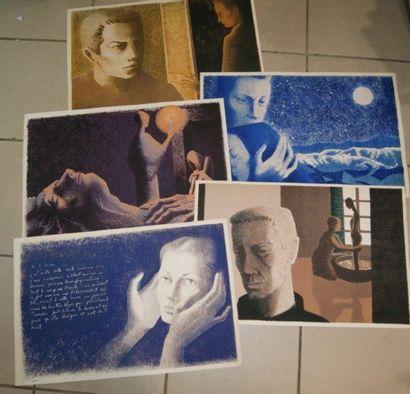 SCIORA (Né en 1945) Lot de 5 lithographies...