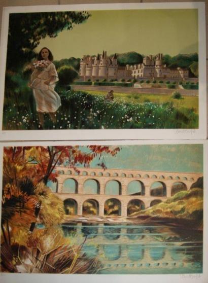 VERNET-BUFET Lot de 2 lithographies, figurant...