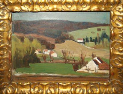 Edouard TOULET (1892-1967) Paysage Huile...