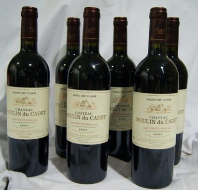 6 bouteilles de St-Emillion Grand Cru, Château...