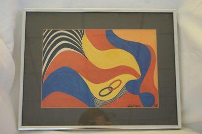 D'après CALDER, lIthographie en couleur signée...