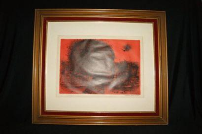 CARZOU Jean (1907-2000) Visage féminin. Lithographie....