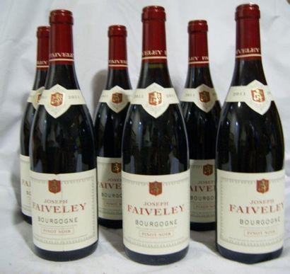 6 bouteilles de Bourgogne Pinot noir, Joseph...