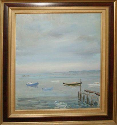 Serge CORBICE. Nuages sur le Cap Ferret....