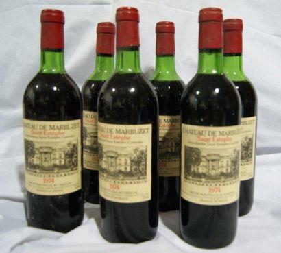 6 bouteilles de Saint-Estèphe, Château de...