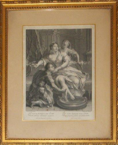 Ecole française du XVIIIe siècle, Gravure...