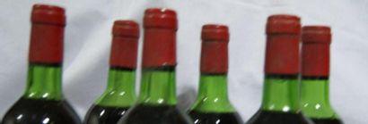 6 bouteilles de Saint-Estèphe, Château de Marbuzet, 1974, (es, LB et B)