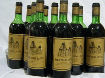 12 bouteilles de Château Rider-Chenu-Lafitte,...