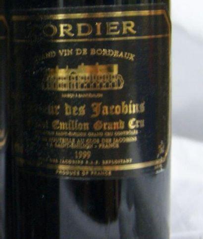 12 bouteilles de Saint Emilion Grand Cru, Prieur des Jacobins. Cordier, 1999.