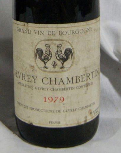 2 bouteilles de Gevrey Chambertin, 1979 (els, B).