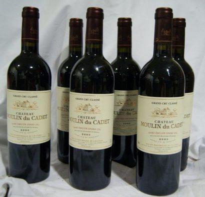 6 bouteilles de St Emilion Grand Cru, Château...