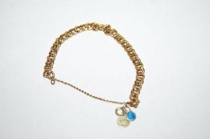 Bracelet en or jaune. Poids : 5 g