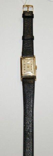 CORD Montre d'homme en or jaune. Bracelet...