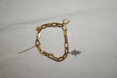 Bracelet à pendeloques en or jaune (une en...