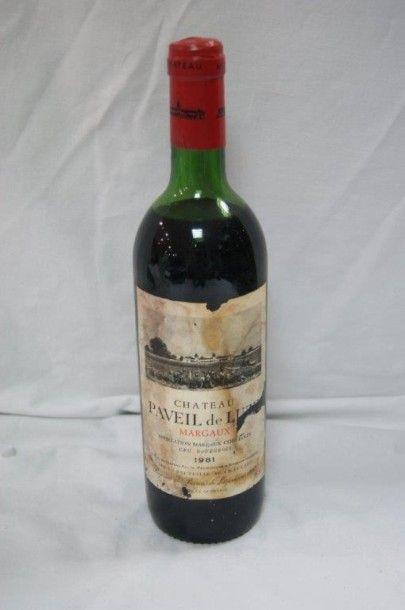 1 bouteille de Margaux, Château Paveil de...
